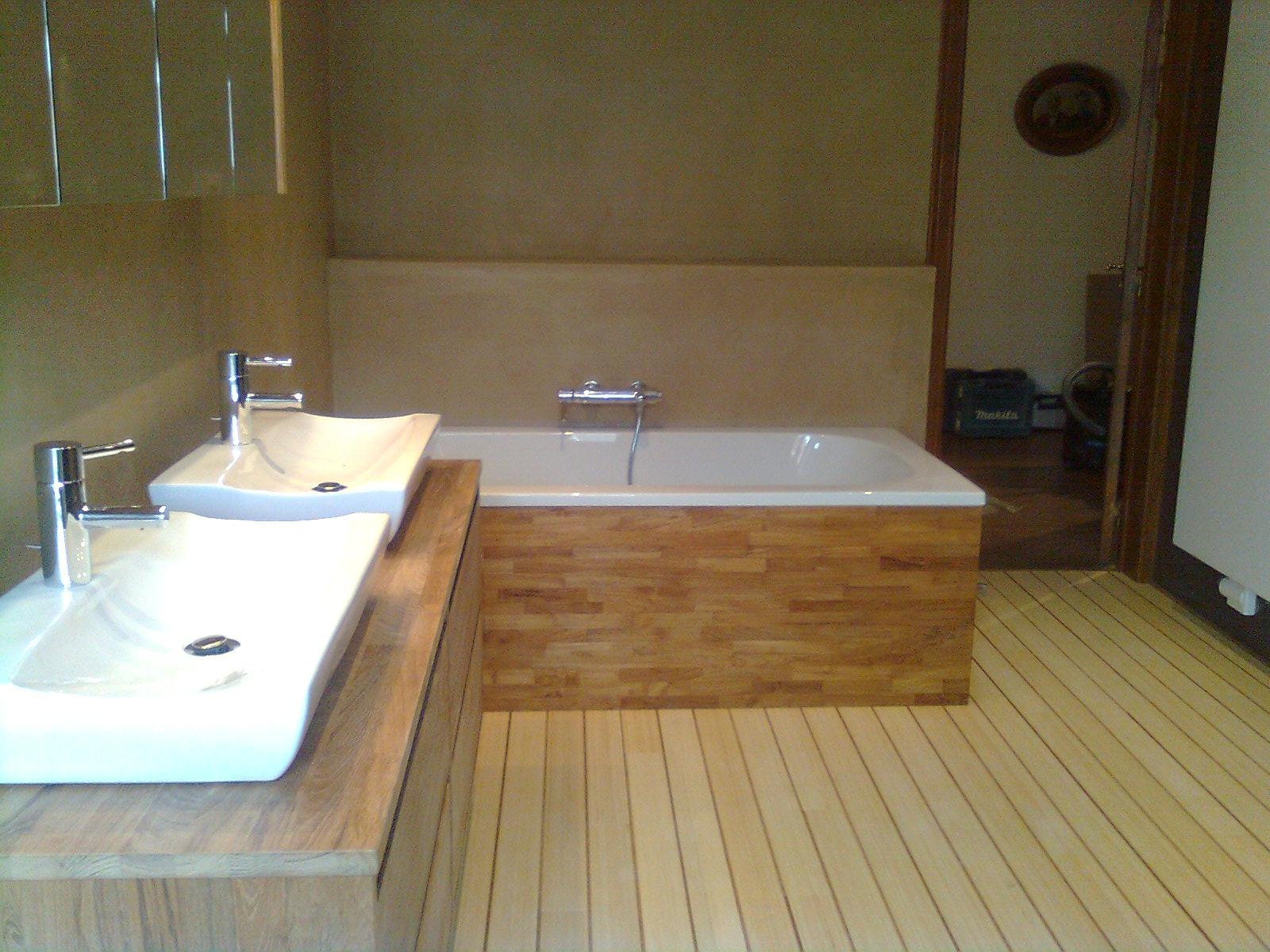 Luciano a s p r l r novation de b timents travaux de transformation plafon - Parquet special salle de bain ...